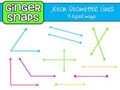 Geometry angles clipart.