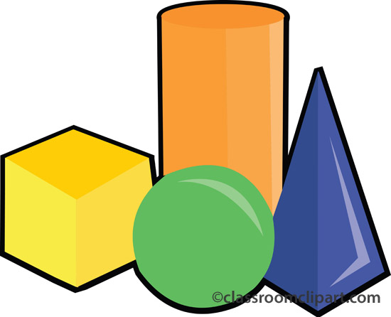 Clipart maths shapes.