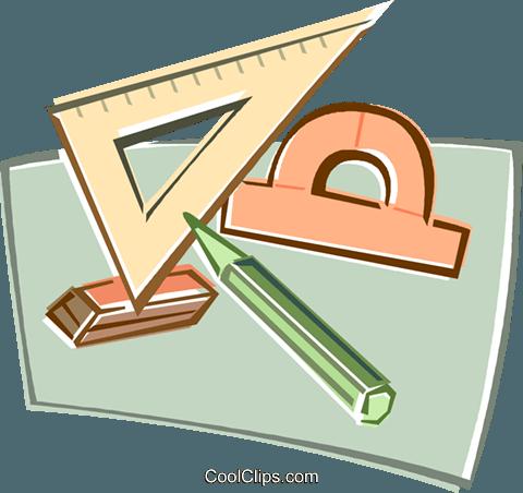 geometry tools Royalty Free Vector Clip Art illustration.