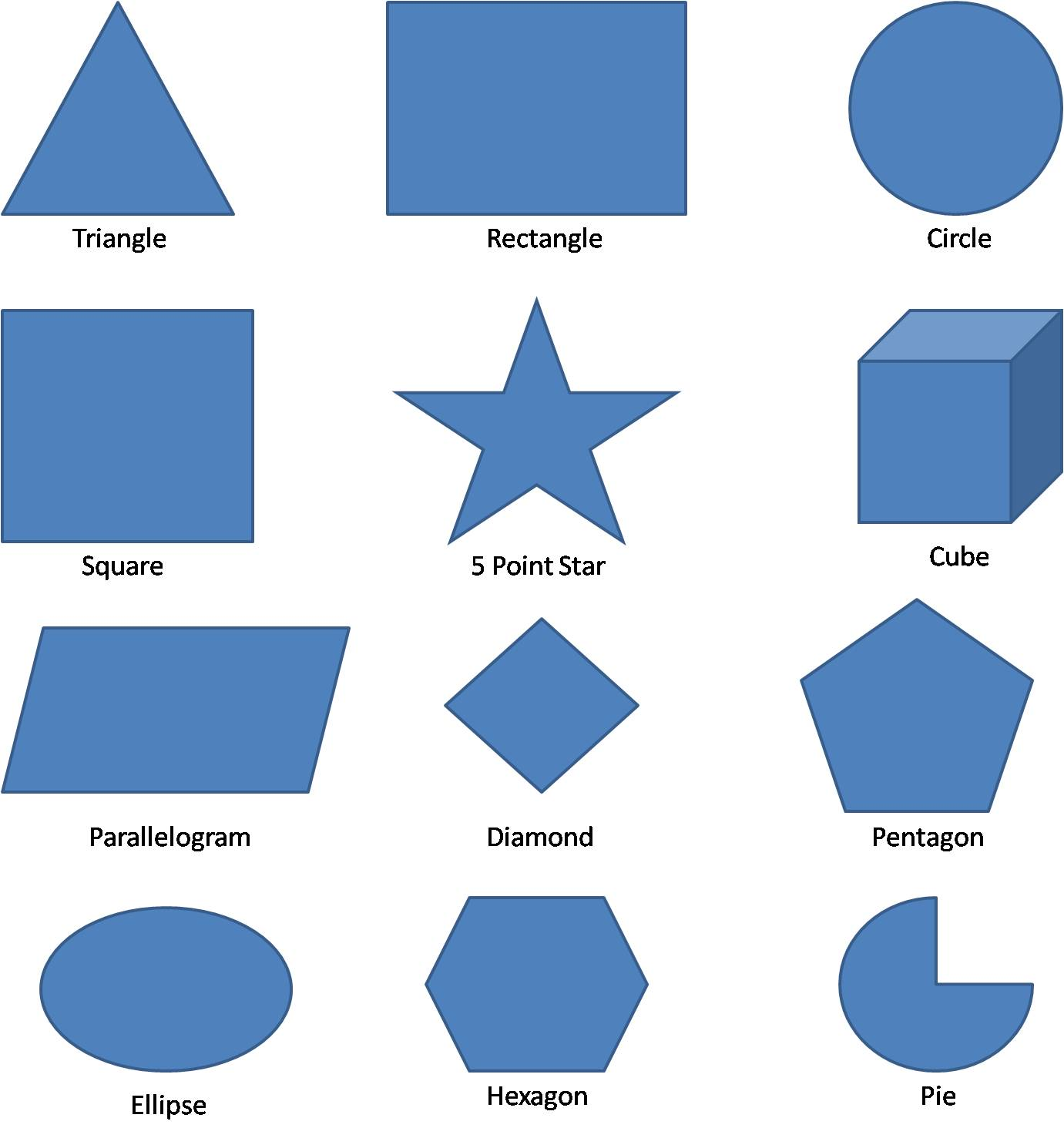 Geometric Shapes Worksheets.