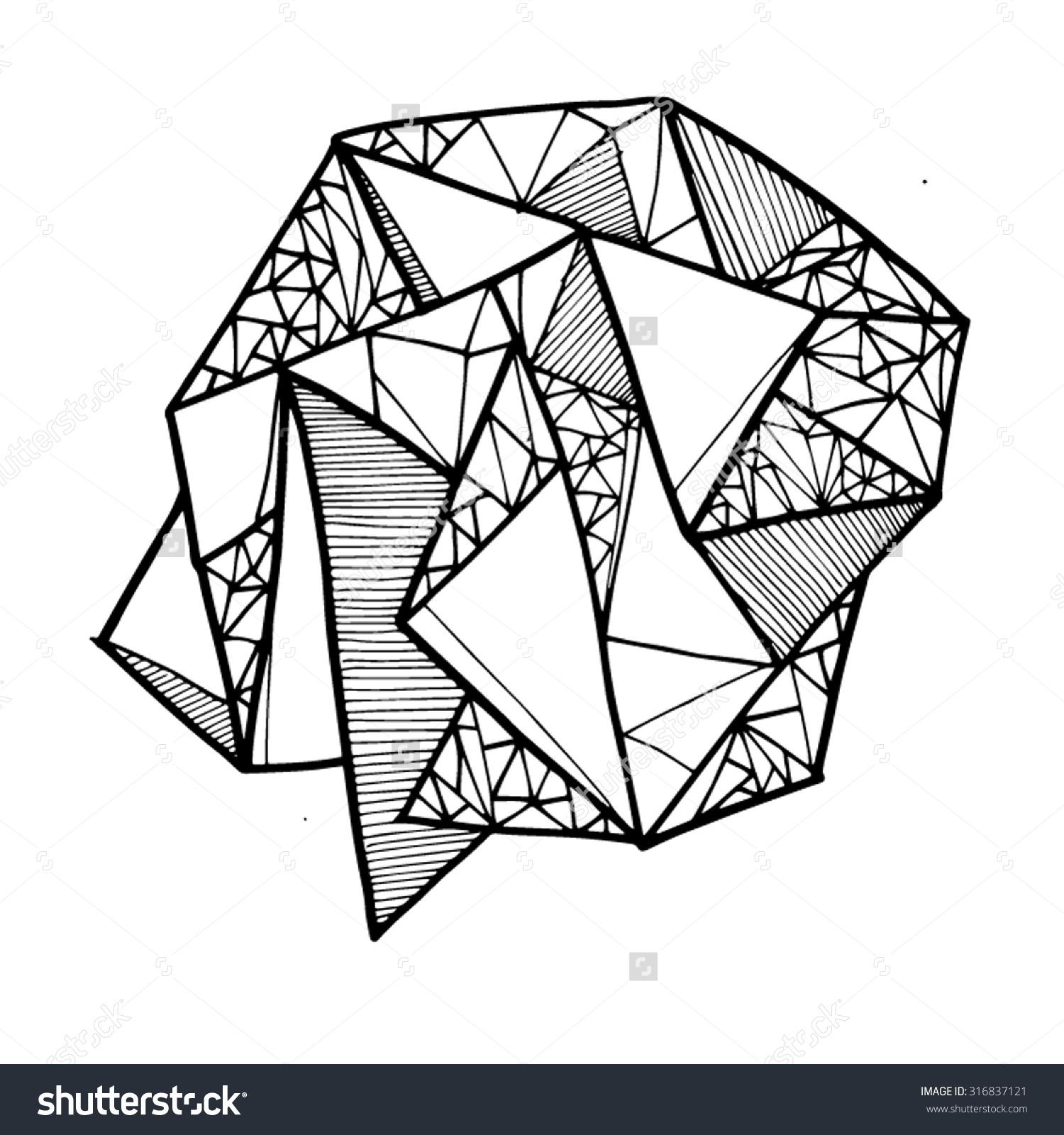 Geometric Shape Lines Lineart Shapes Line Stock Vector 316837121.