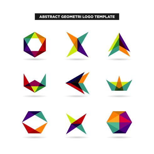 Abstract Geometry Logo Design Collection.