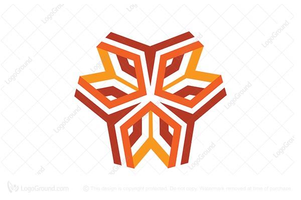 Exclusive Logo 105632, Orange Geometry Logo.
