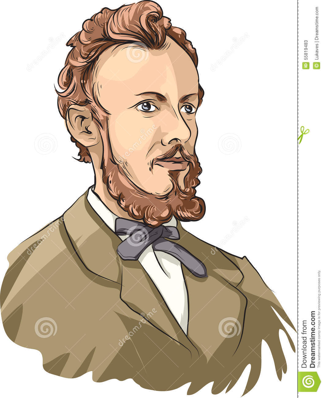 Georg Cantor Editorial Stock Photo.