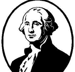 George Washington Clipart Black And White.