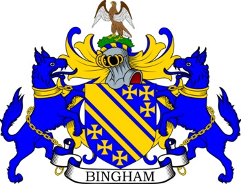 Bingham Coat of Arms Meanings and Family Crest Artwork.