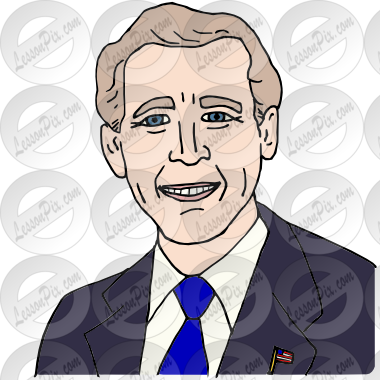 George W Bush Picture for Classroom / Therapy Use.