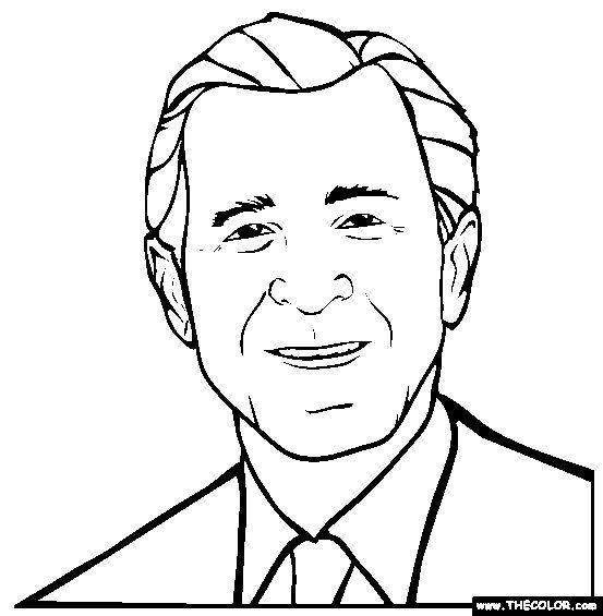 George W Bush Coloring Page.