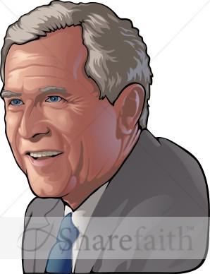 George bush clipart.