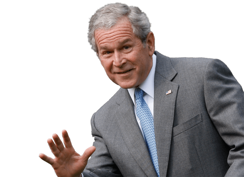 Georges W Bush President Face transparent PNG.