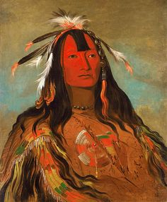 Peoria Native American Indian Tattoos Artist: George Catlin.