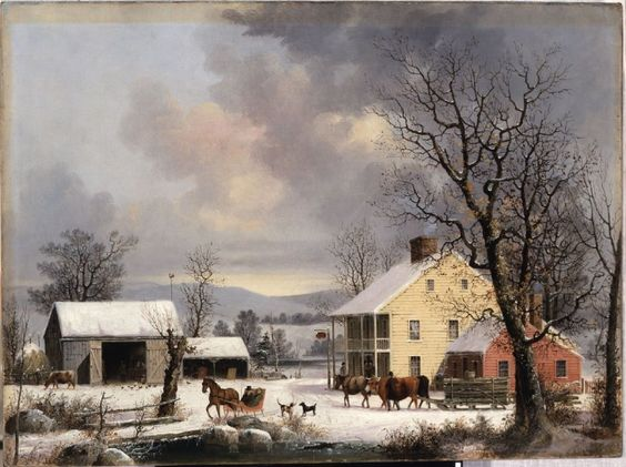 Winter in the Country George Henry Durrie Date: 1857.