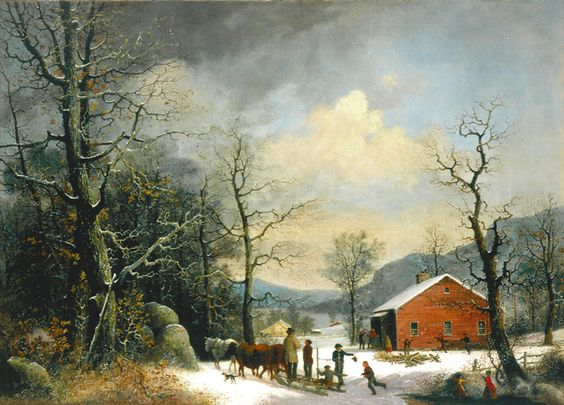 Winter Scene by George Henry Durrie.