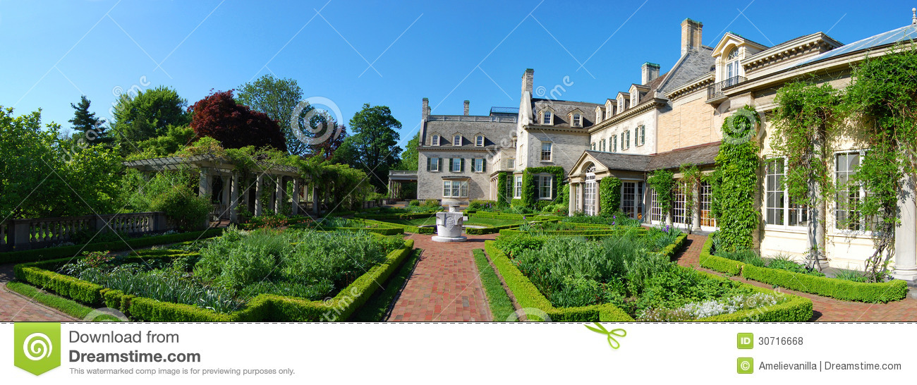 George Eastman House Panorama, Rochester, New York Royalty Free.