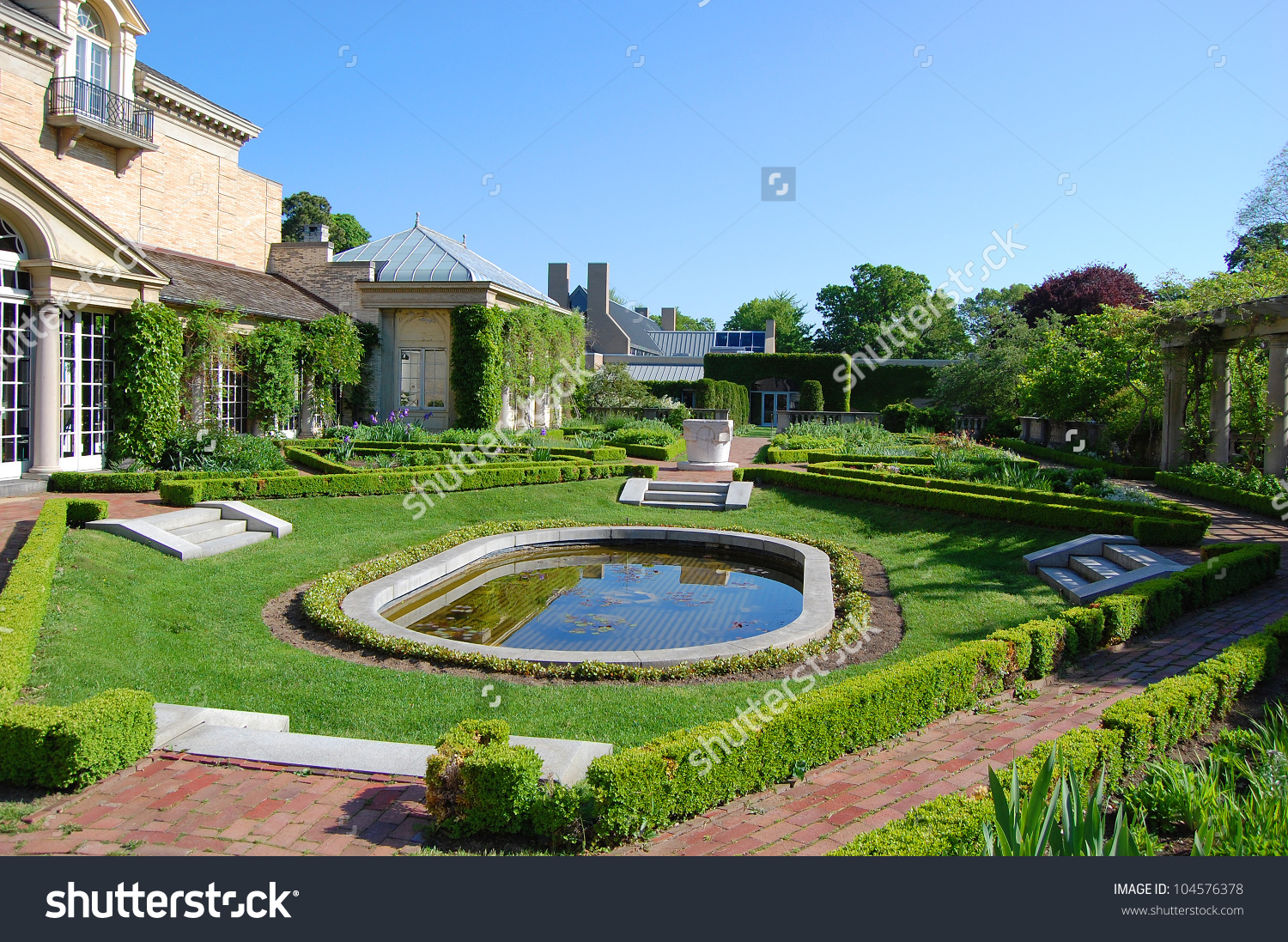 George Eastman House Garden Rochester New Stock Photo 104576378.
