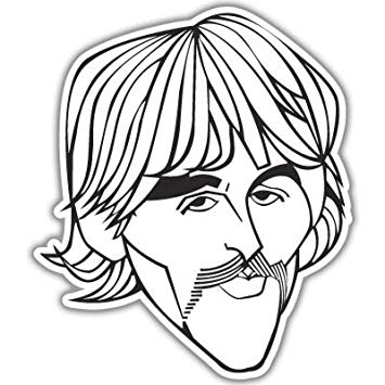 Amazon.com: The Beatles George Harrison vynil car sticker 5.