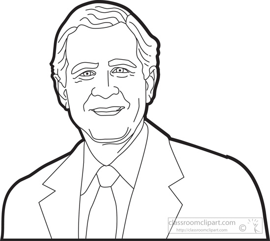 George hw bush clipart clipground for Tomie depaola coloring pages