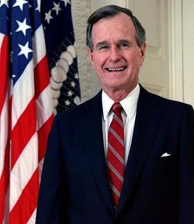 Clipart of President George H.W. Bush.