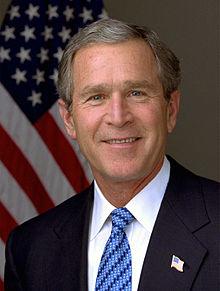 Clipart of President George W. Bush.