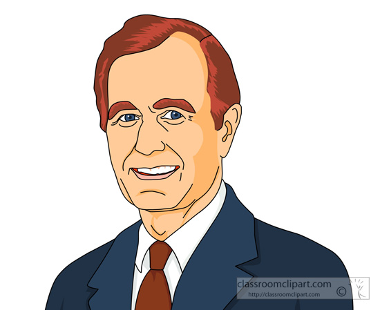 George w bush clip art.