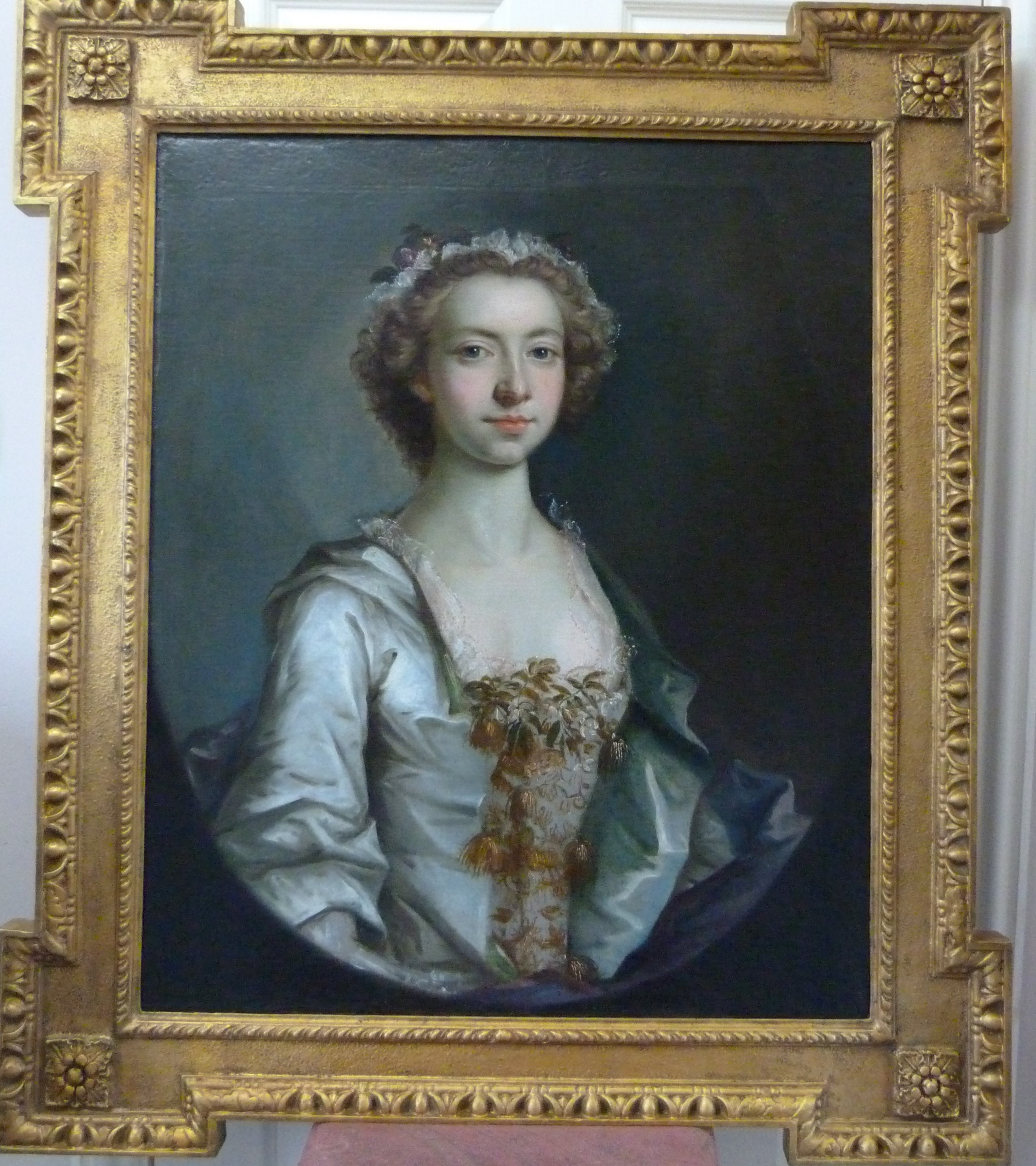 Portrait of Letitia Hall, c1775, by George Knapton. (c. 1775.