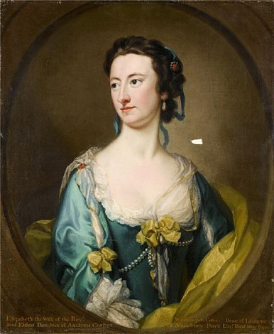 Portrait of Elizabeth Washington Cotes by George Knapton on artnet.