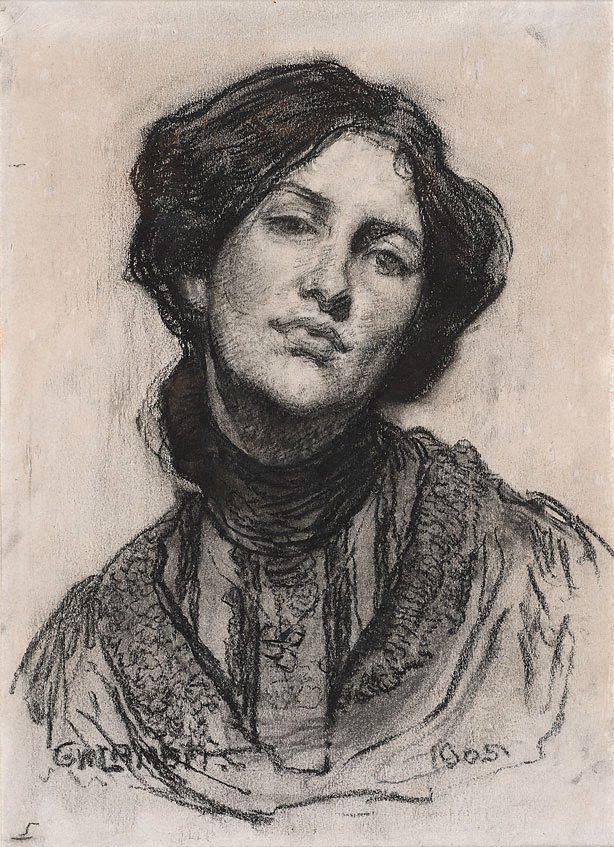 zitterberg: Portrait of Thea Proctor (1905) George W Lambert.