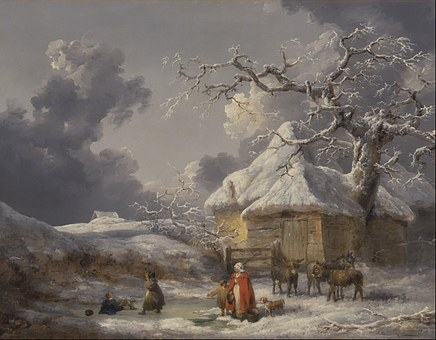 Free photo Painting Oil On Canvas Artistic George Morland.
