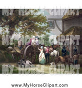 Royalty Free George Morland Stock Horse Designs.