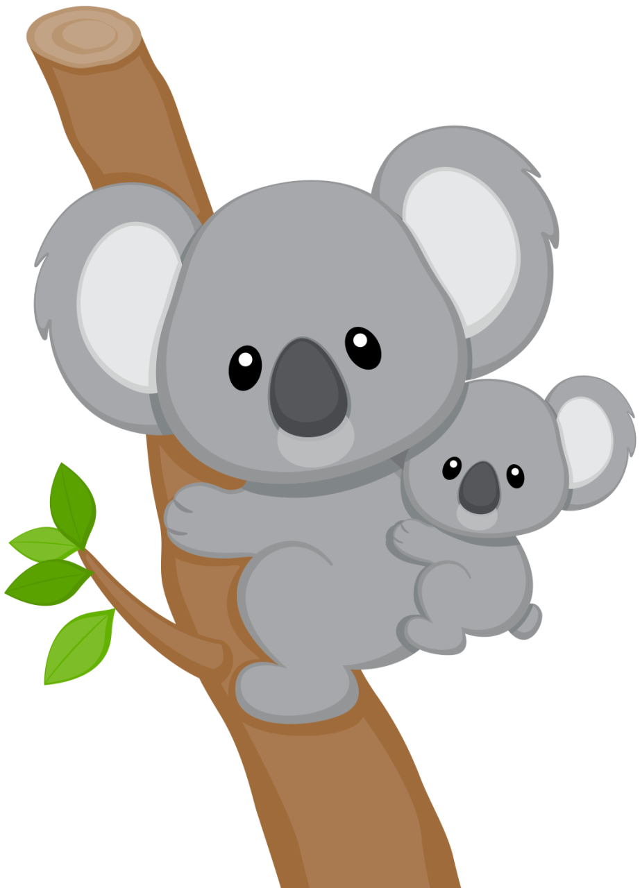 cartoon koala.