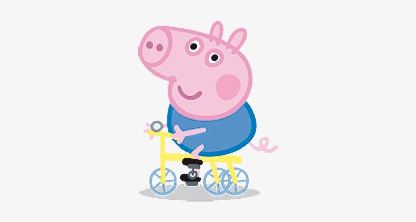 George Pig En Bicicleta Cumple Peppa Pig George.