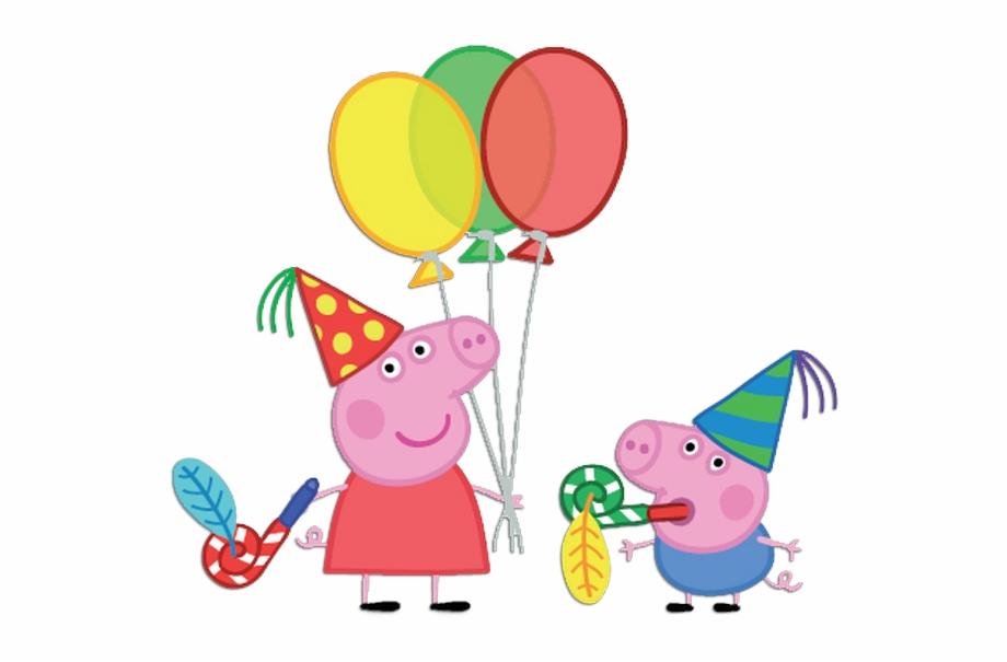 Peppa Pig Balloons Png Vector Free Download.