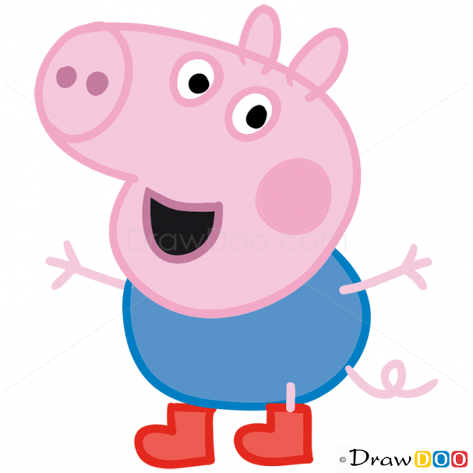 How to Draw George 1, Peppa Pig.