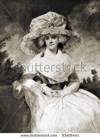 """George Romney """"Portrait Of Mrs. Drummond Smith."""" Reproduction From."""