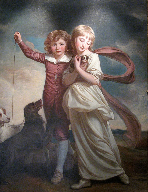 George Romney, The Clavering Children, 1777. Huntington Library.