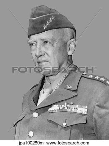 Drawings of Digitally restored vector portrait of General George.