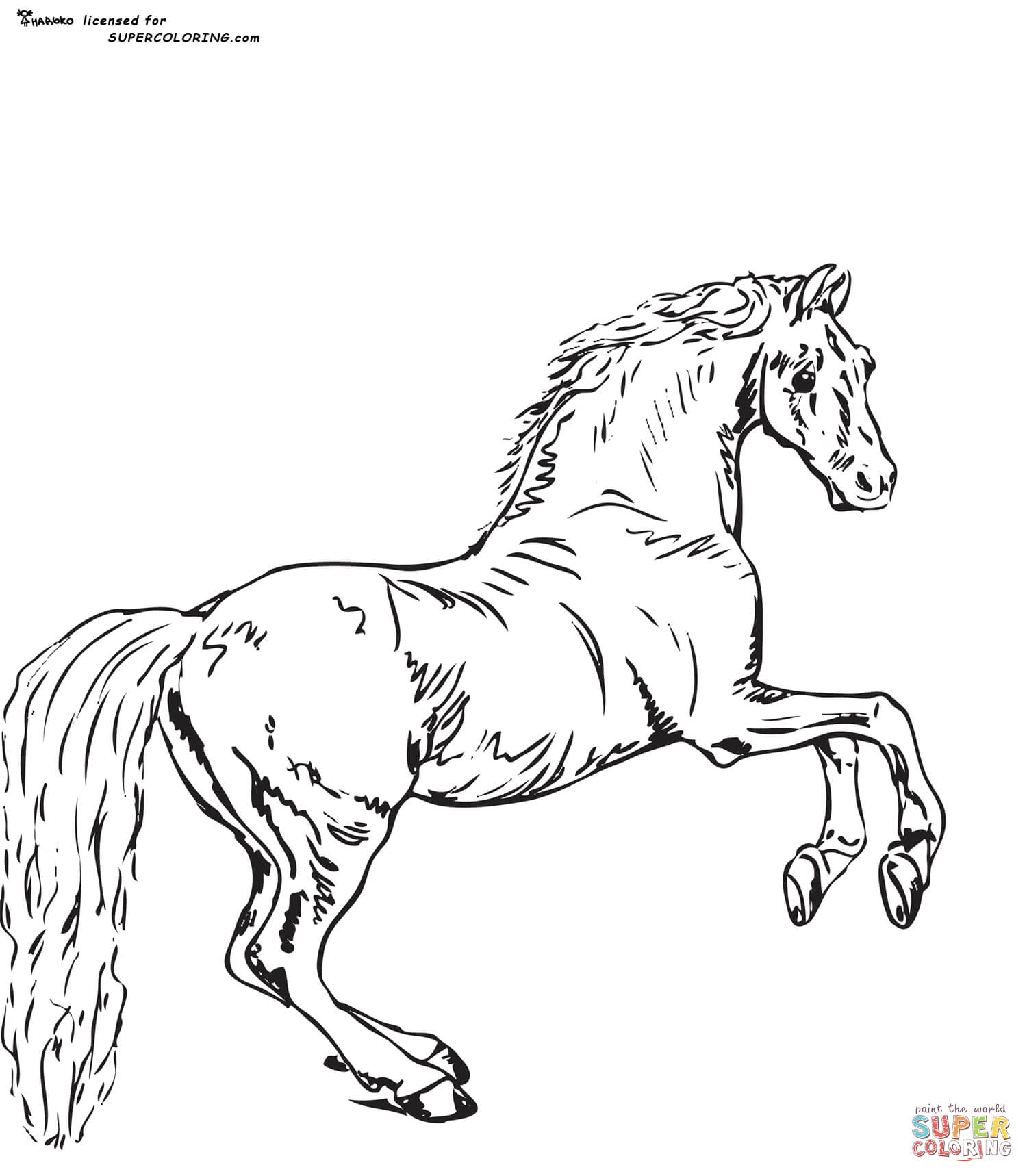 Whistlejacket By George Stubbs coloring page.