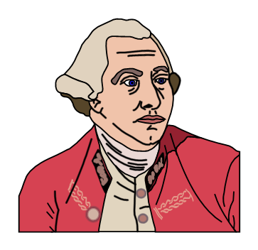 King george 3 clipart.