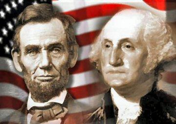 Clip Art George Washington Abraham Lincoln.