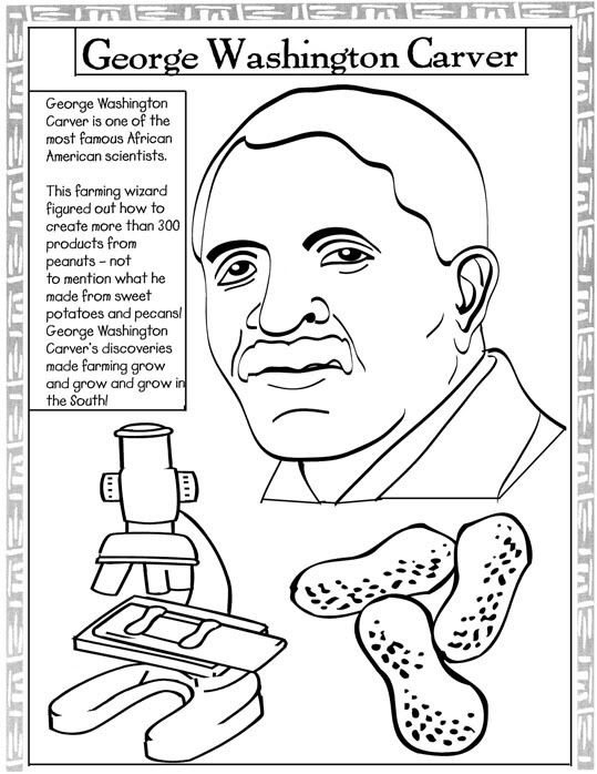 George Washington Carver Coloring Pages.