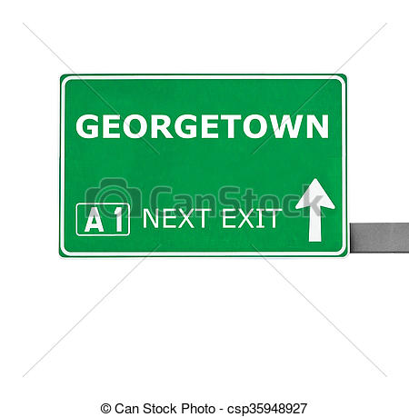 Clip Art of GEORGETOWN road sign isolated on white csp35948927.