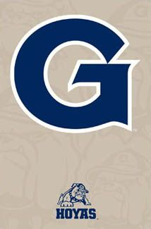 GEORGETOWN HOYAS Official NCAA Athletics Logo Poster.