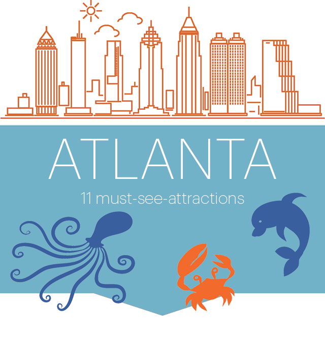 Atlanta Places to Visit: Georgia Aquarium in 2019.