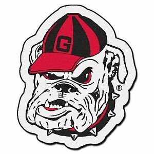 Details about Georgia Bulldogs Dawg Mascot Decorative Logo Cut Area Rug  Floor Mat.