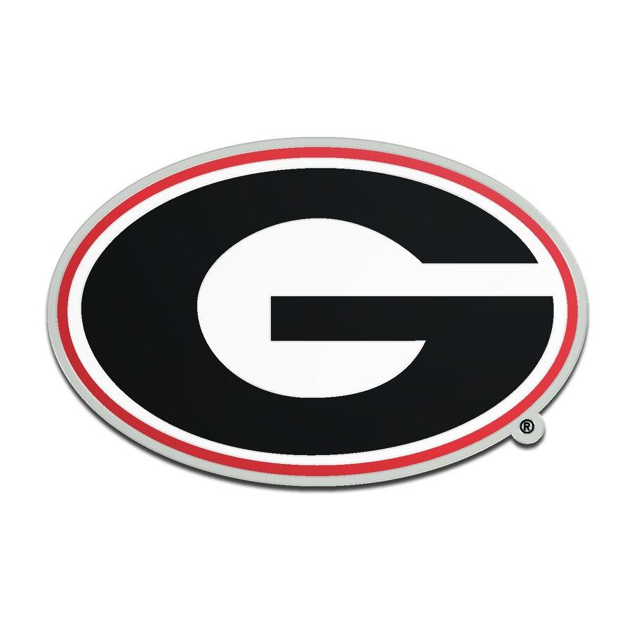 Georgia Bulldogs Metallic Freeform Logo Auto Emblem.