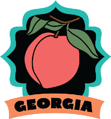 Georgia luggage label or travel sticker.