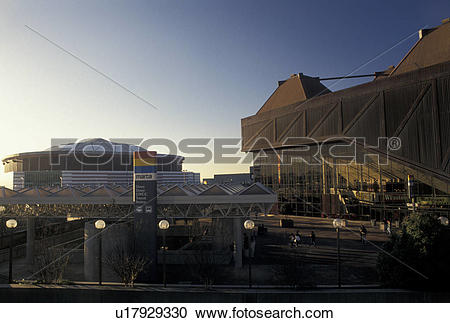 Stock Photography of sports complex, Atlanta, Georgia, GA, Omni.