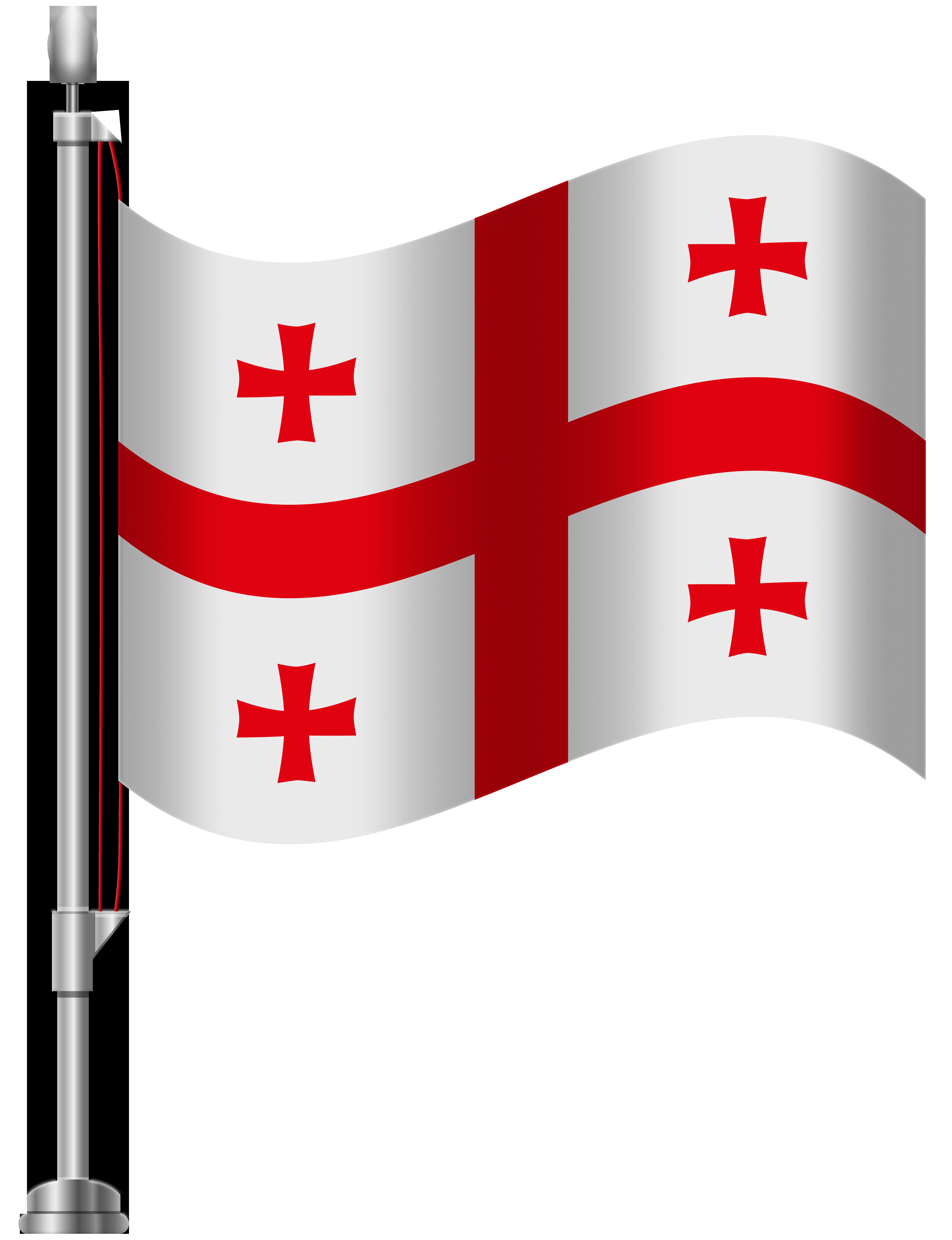 Georgia Flag PNG Clip Art.