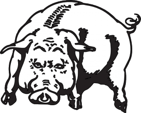 Georgia National Guard Boars Head Clipart.