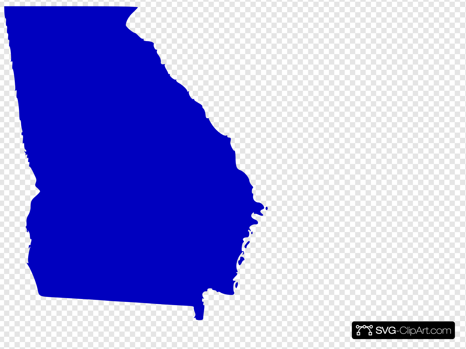 Georgia State Map Outline Solid Clip art, Icon and SVG.